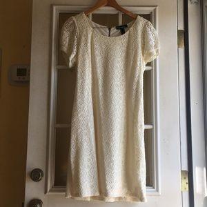 INC Zip-Up Lace Dress XL NWT